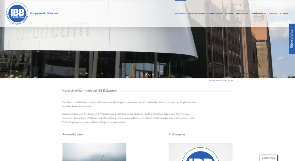 Website IBB Elektronik